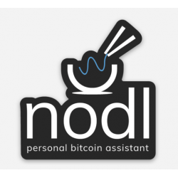 Black nodl sticker (small)