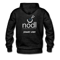 "nodl ""power user"" hoodie"